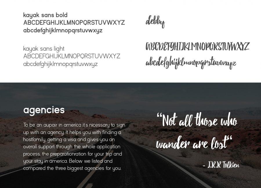 Kleier Baumanns Website Typography