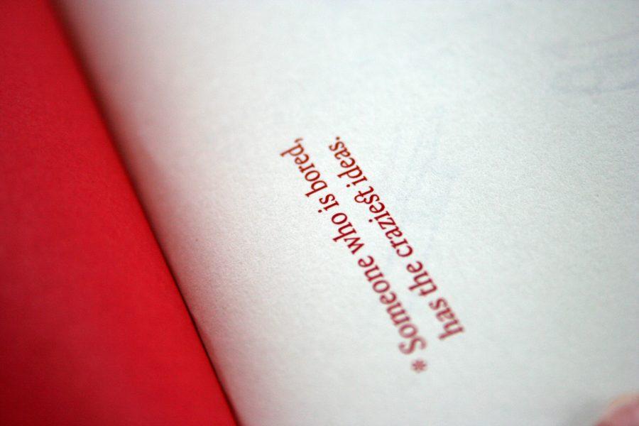Calendar typography detail