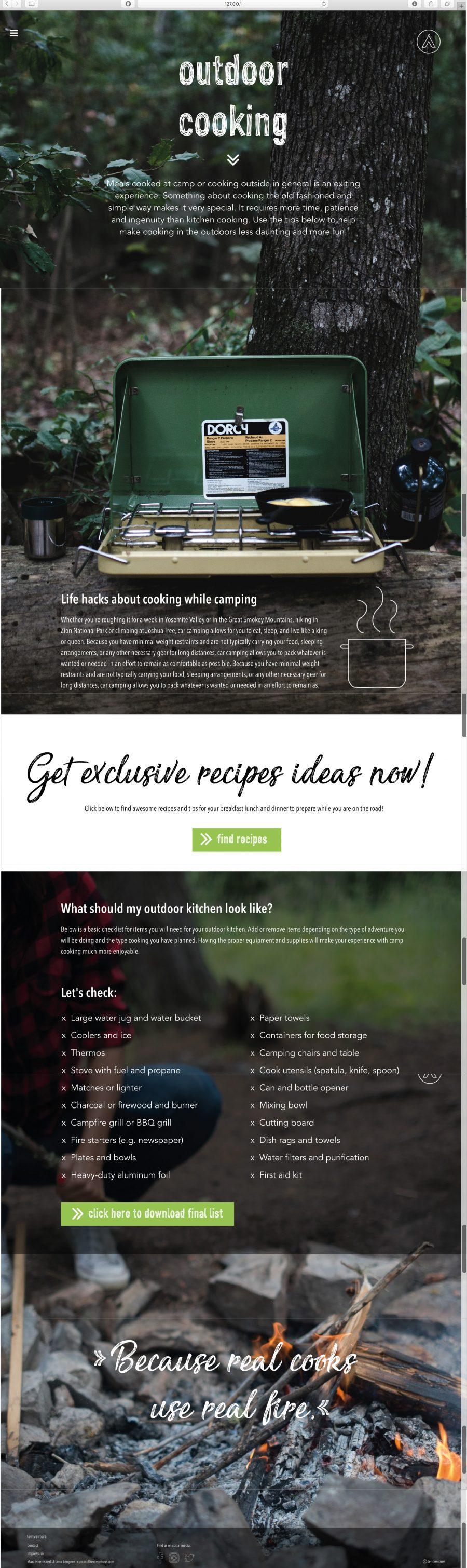 Heemskerk Lengner Website outdoor cooking